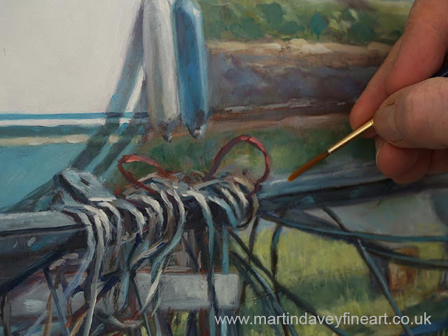 artist brush marine oil art martin davey wip