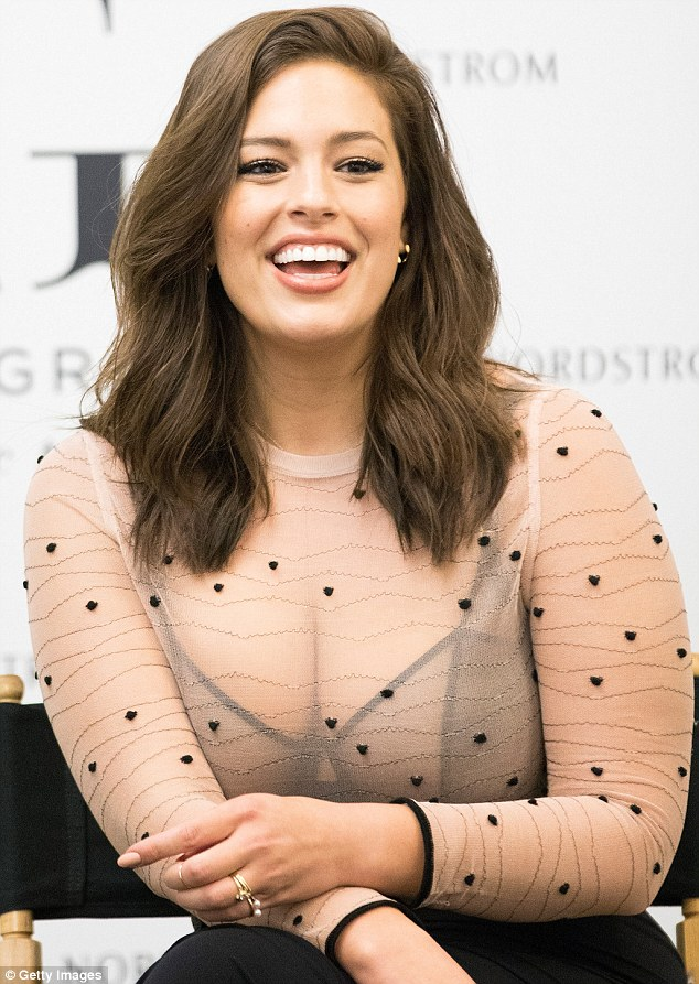 Ashley Graham goes sheer to launch new lingerie collection in Illinois