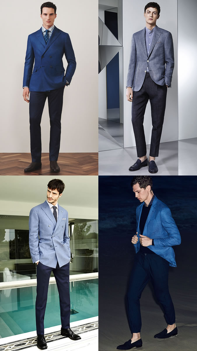 The Trends Hub Tendencies Long Pants Rigid Navy Chinos 26 Jacket On Sky Blue Trousers Alternatively You Can Keep Tones Similar But Add Some Distinction With Material Try A Cross Hatch Pattern