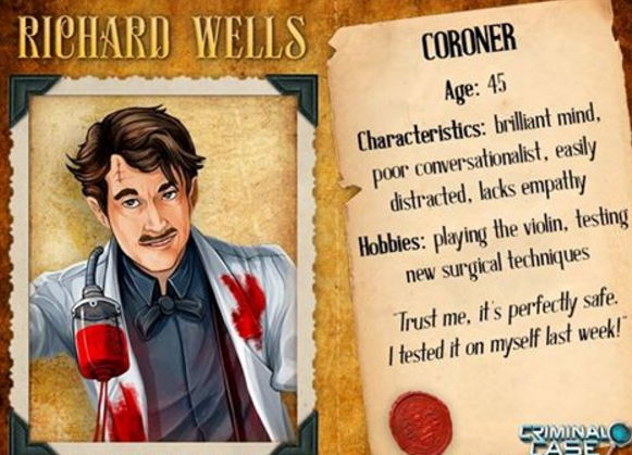 Criminal Case Mysteries Of The Past Richard Wells