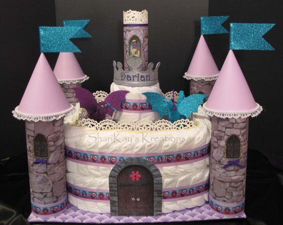 bolo de fralda azul, cha de fraldas simples, cha de bebe simples,bolo de fraldas simples, bolo de fralda meninos, bolo de fraldas menina, cha de bebê, decoração de chá de bebê, chá de fraldas,  bolo de fralda castelo,bolo de fralda de castelo, bolo de fralda rosa