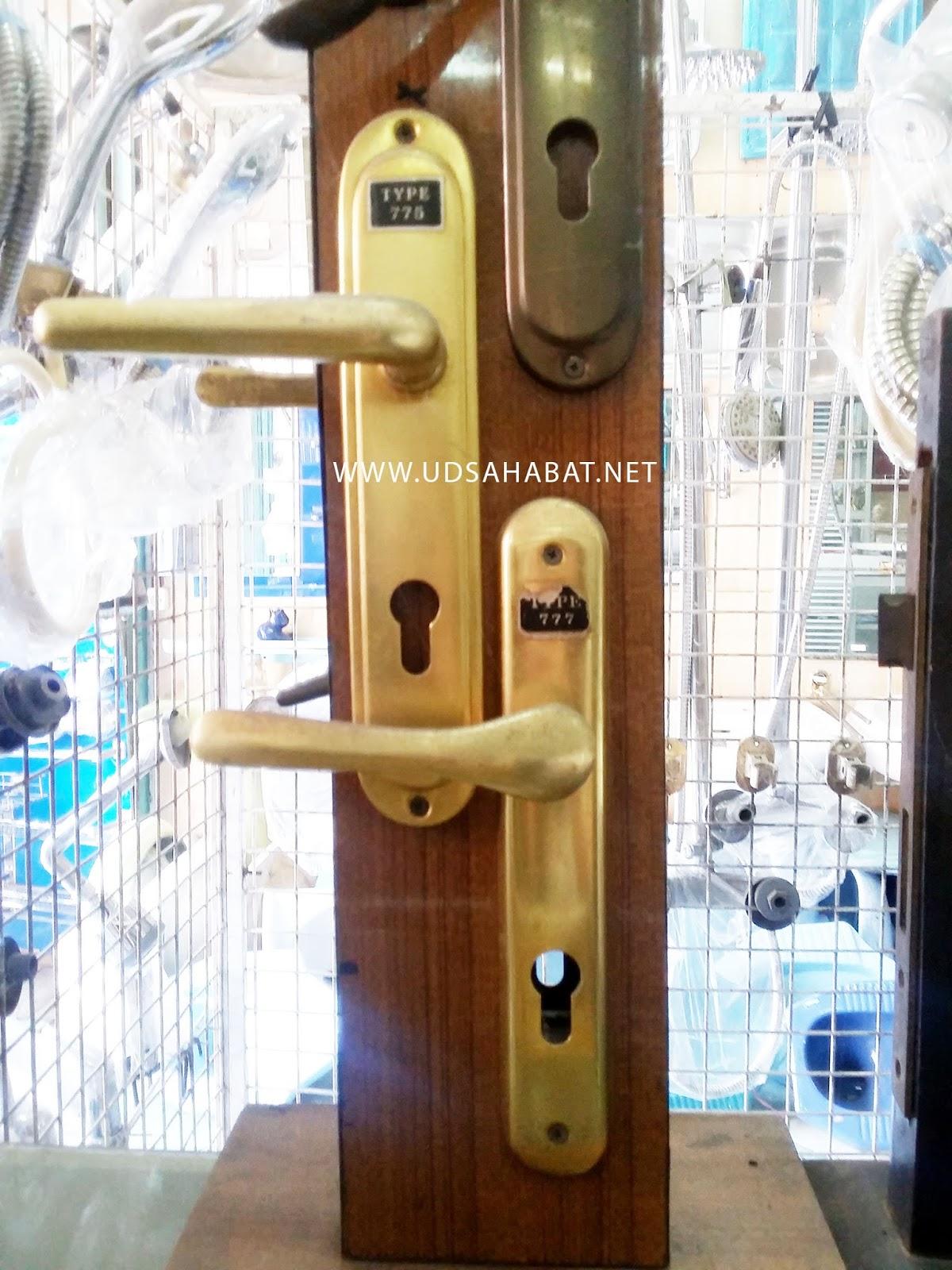 jual door knob handle pintu emas