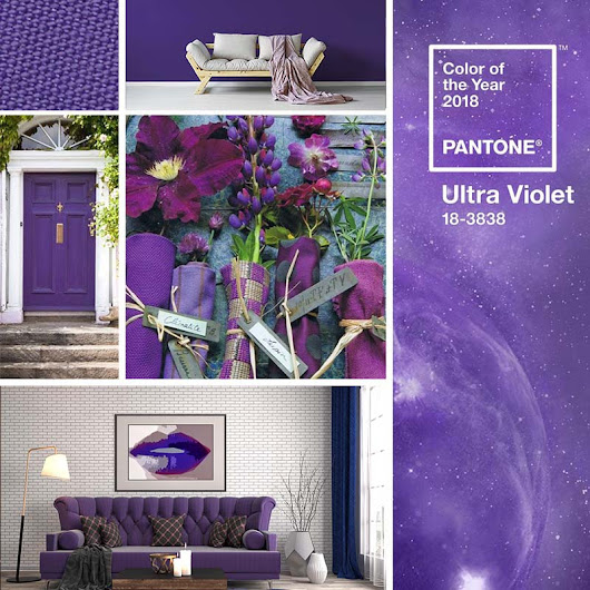 The color of the Year 2018 Pantone is Ultra Violet