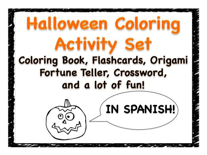 halloween activity set freebie fun for spanish teachers. Black Bedroom Furniture Sets. Home Design Ideas