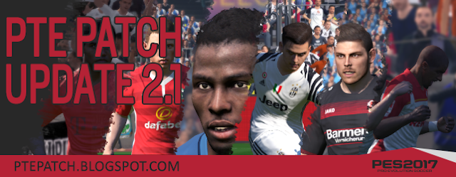 [PES17] PTE Patch 2017 Update 2.1 - RELEASED 06/11/2016