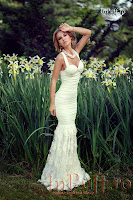 Rochie lunga ivoire stil sirena