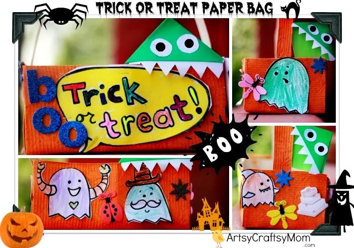Halloween trick treat paper bag