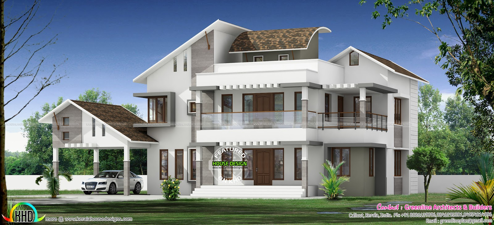 3340 square feet mix roof modern home kerala home design and floor plans - Houses atticsquare meters ...