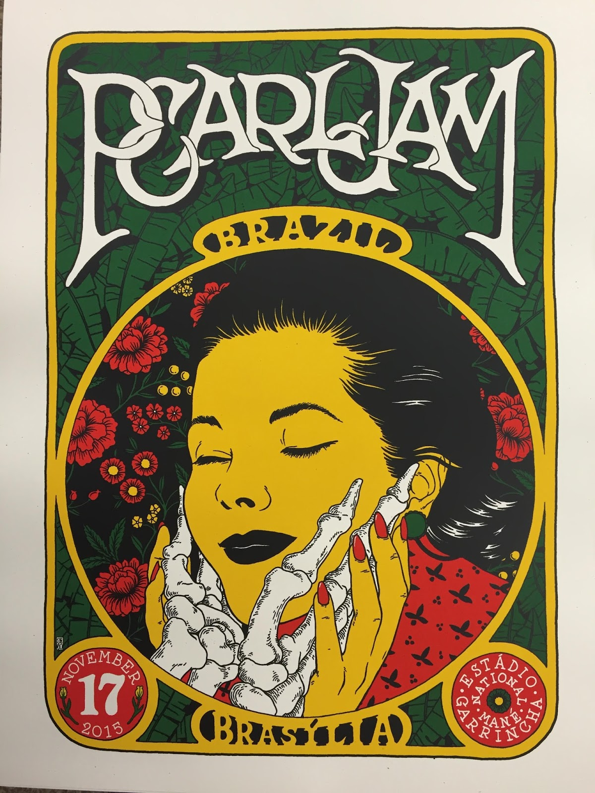 INSIDE THE ROCK POSTER FRAME BLOG: Broken Fingaz Pearl Jam Brasilia ...