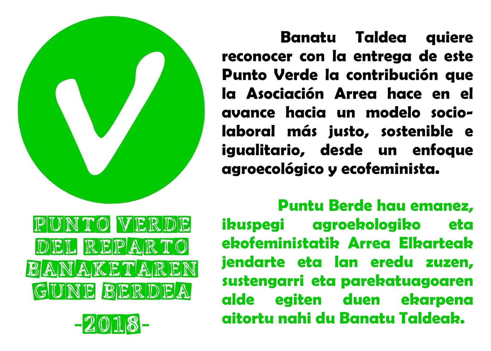 BANATU TALDEA : Puntos Negro y Verde 2018