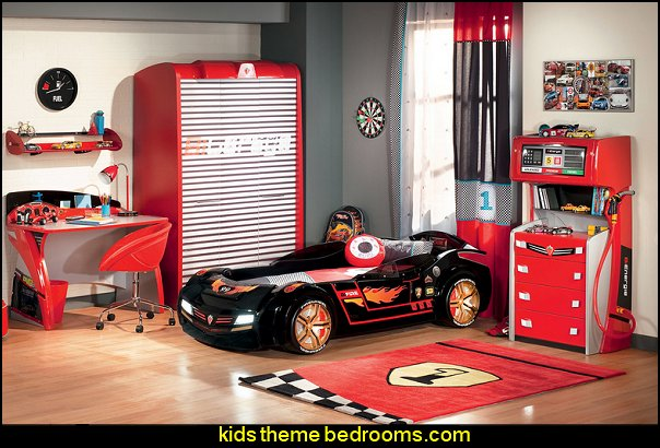 Need for Sleep Turbo Study Writing Desk  racing car themed bedroom furniture