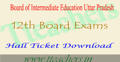 UP board intermediate hall tickets 2017 upmsp admit card 12th