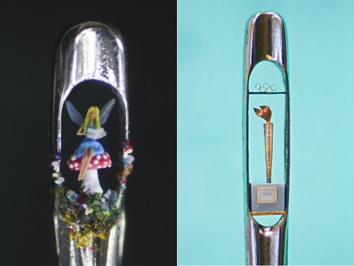 04-Willard-Wigan-Miniature-Art-and-Sculptures-in-The-Eye-of-a-Needle-Fairytale-and-Needle-Olympic-Torch