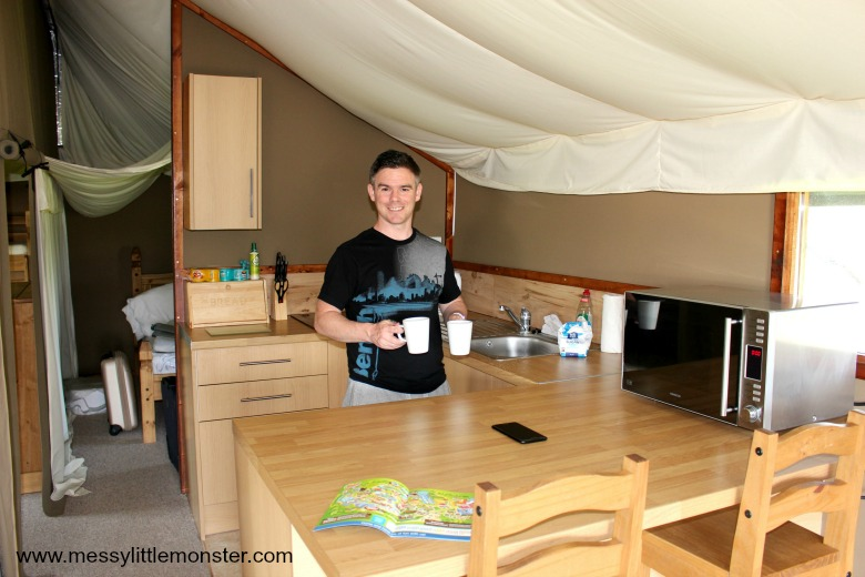 safari plus glamping tents, Crealy, Devon - UK glamping break