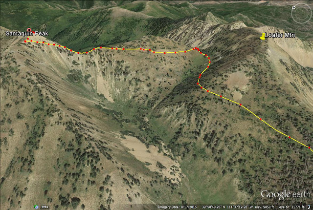 Santaquin Peak trail map