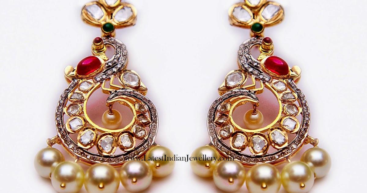 Peacock Design Chand Bali Earrings