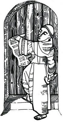 Luther Posting His 95 Thesis | Christian Clip Art Review