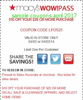Macy's coupons for april 2017
