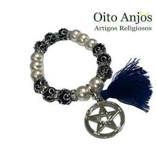 Pulseira Esotéricas- Semi Joias Esotéricas Oito Anjos Artigos Religiosos e Loja Esotérica