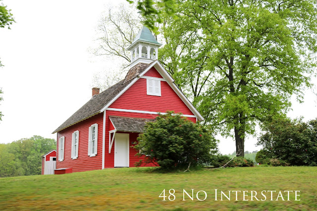 48 No Interstate back roads cross country coast-to-coast road trip Maryland red school house USA