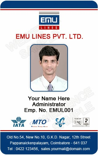 Id card coimbatore ph 97905 47171 free photo id card for Staff id badge template
