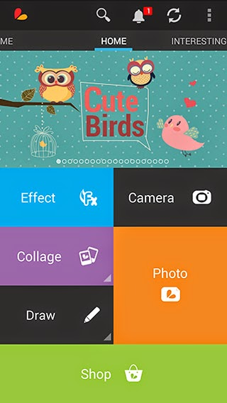 PicsArt Photo Studio menu