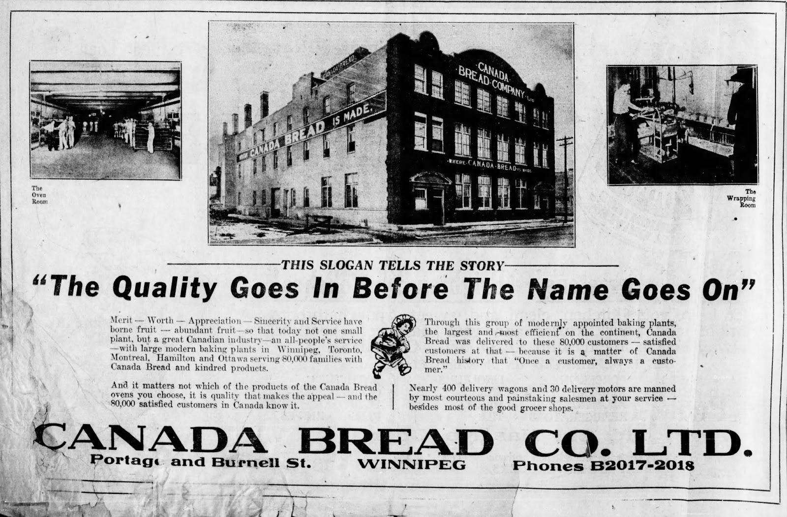Winnipeg Downtown Places: 258 Burnell Street - Former Canada Bread ...