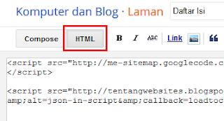Cara membuat sitemap responsive pada blog