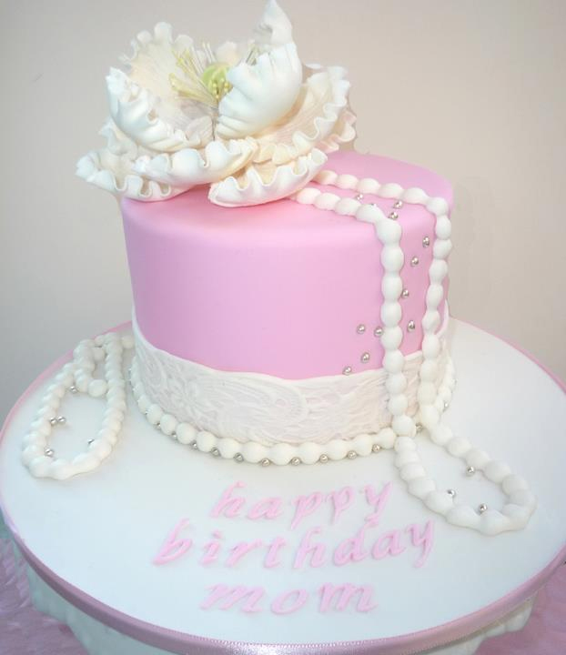 Pretty Pink Lace And Pearls Cake In Dayotna Beach Florida