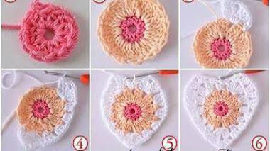 Cómo tejer corazones crochet / DIY