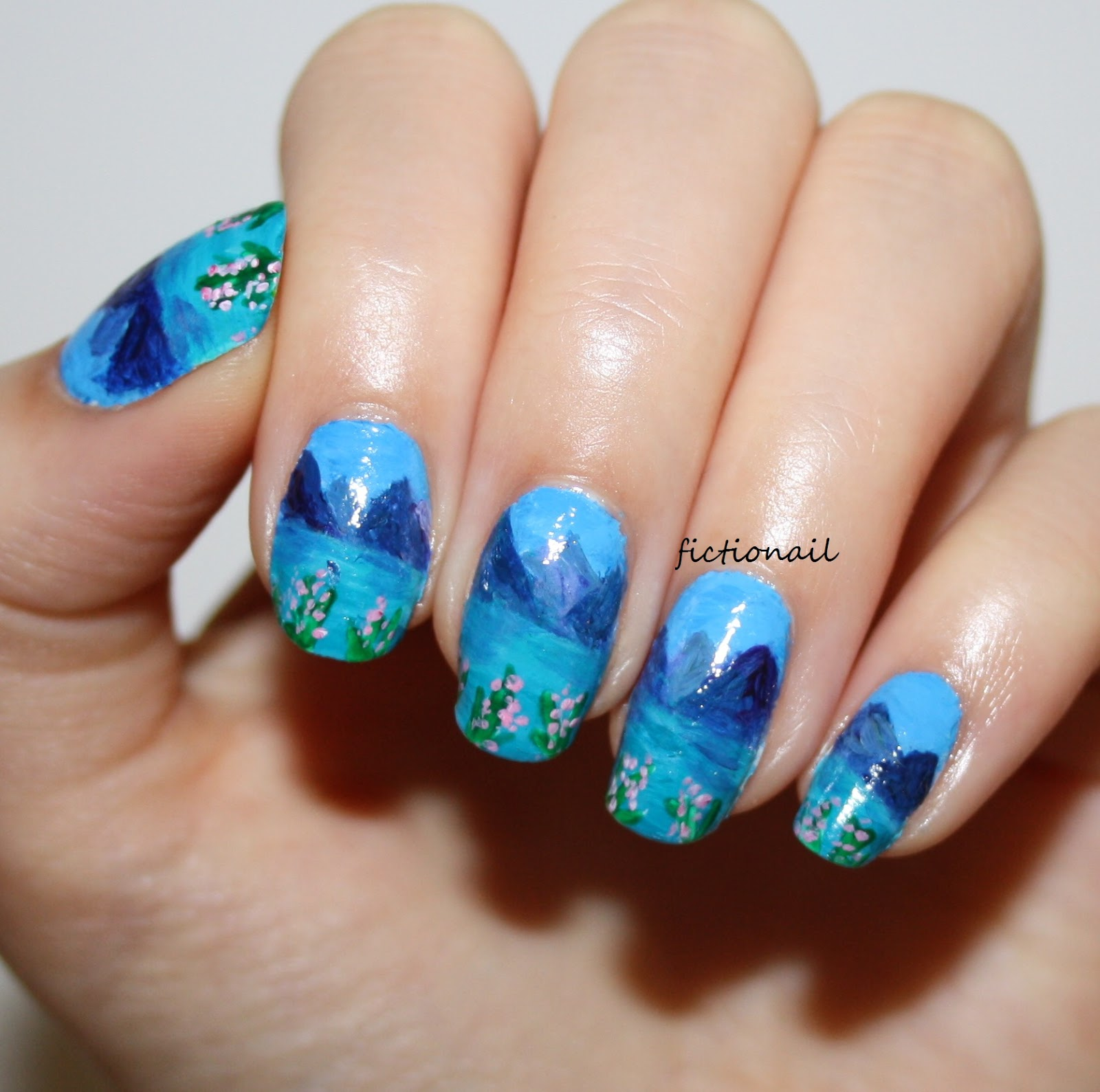 Mountain Landscape Nails