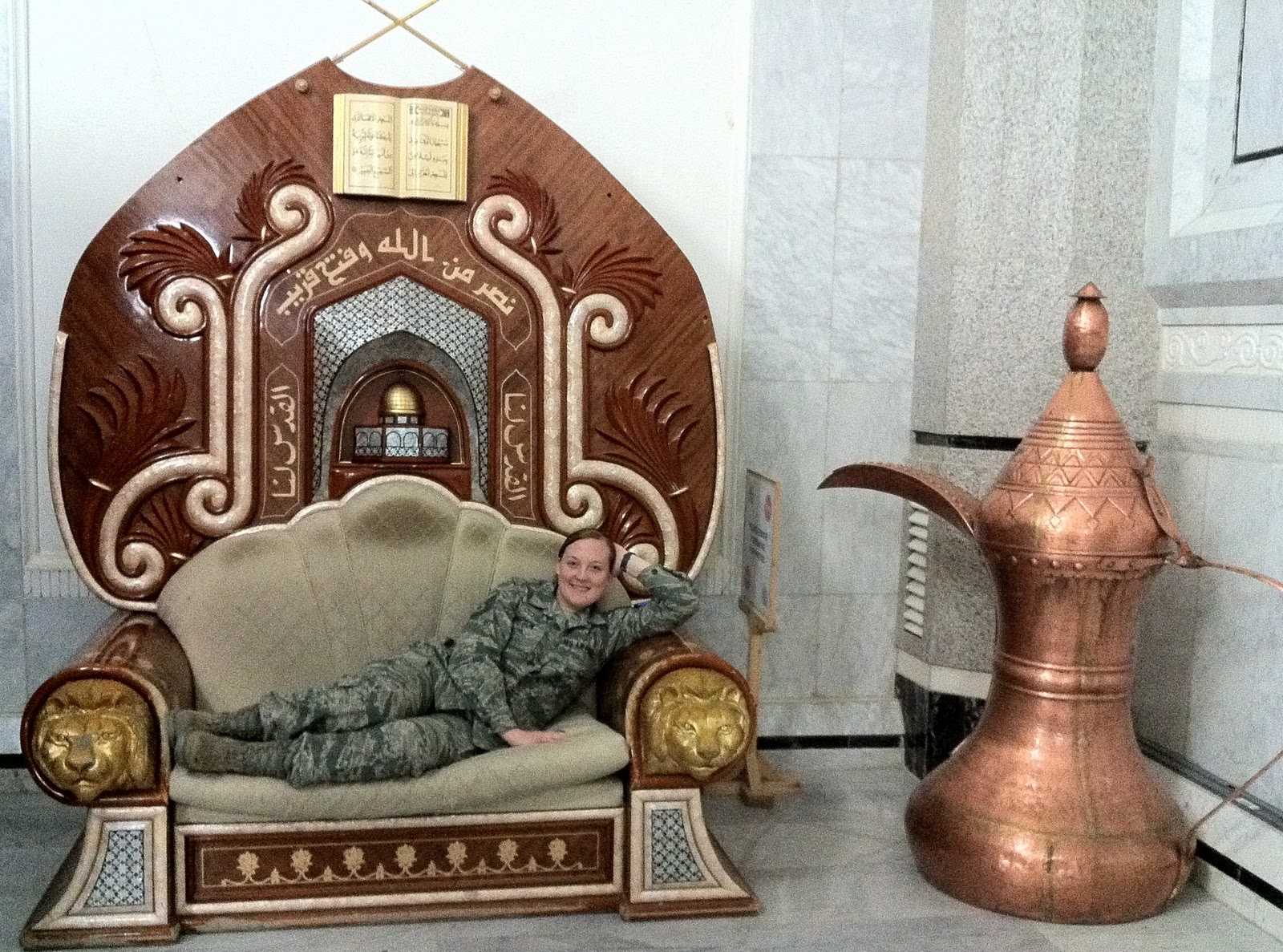 palace victory jbb baghdad base sadam yep fwa hanging chair al