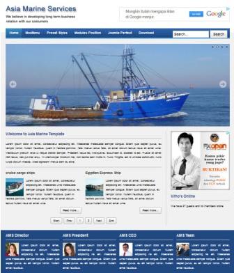 Asia Marine Joomla Tourism Template