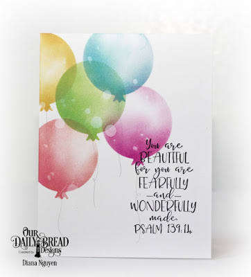 Our Daily Bread Designs Stamp Set: Today and Everyday, Custom Dies, Birthday Balloons