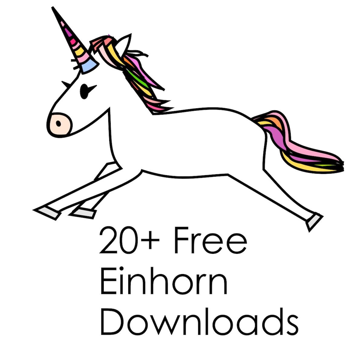 vanilleblau : Trendtier Einhorn - Free Printables und Downloads