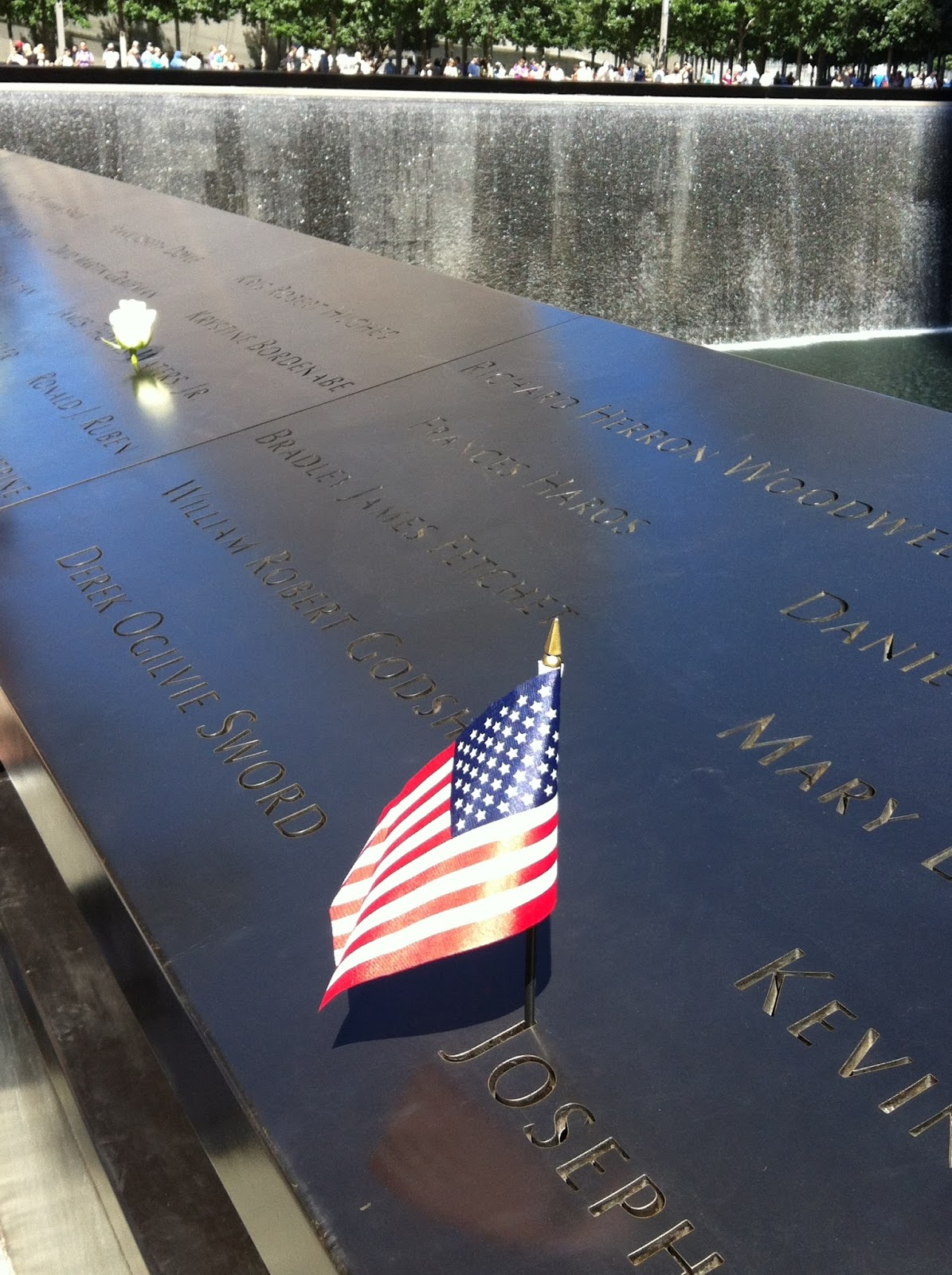 Flag at 9/11 Memorial New York City