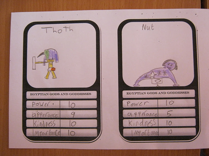 Top Trumps Rules >> Year 4 blog: Egyptian Gods and Goddesses Top Trumps