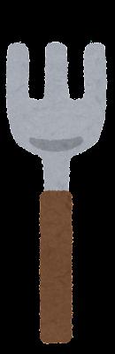 フォークのイラスト(木の柄)