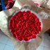 Buket Bunga Flanel Hias Cantik