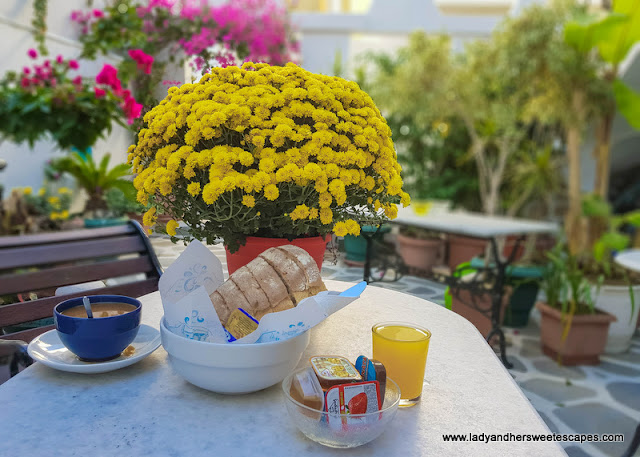 Greek breakfast in Naxos