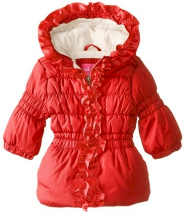 fde97e3e3925e0 This Pink Platinum Baby Girls  Grosgrain Detail Puffer Jacket in red is priced  at  11.00