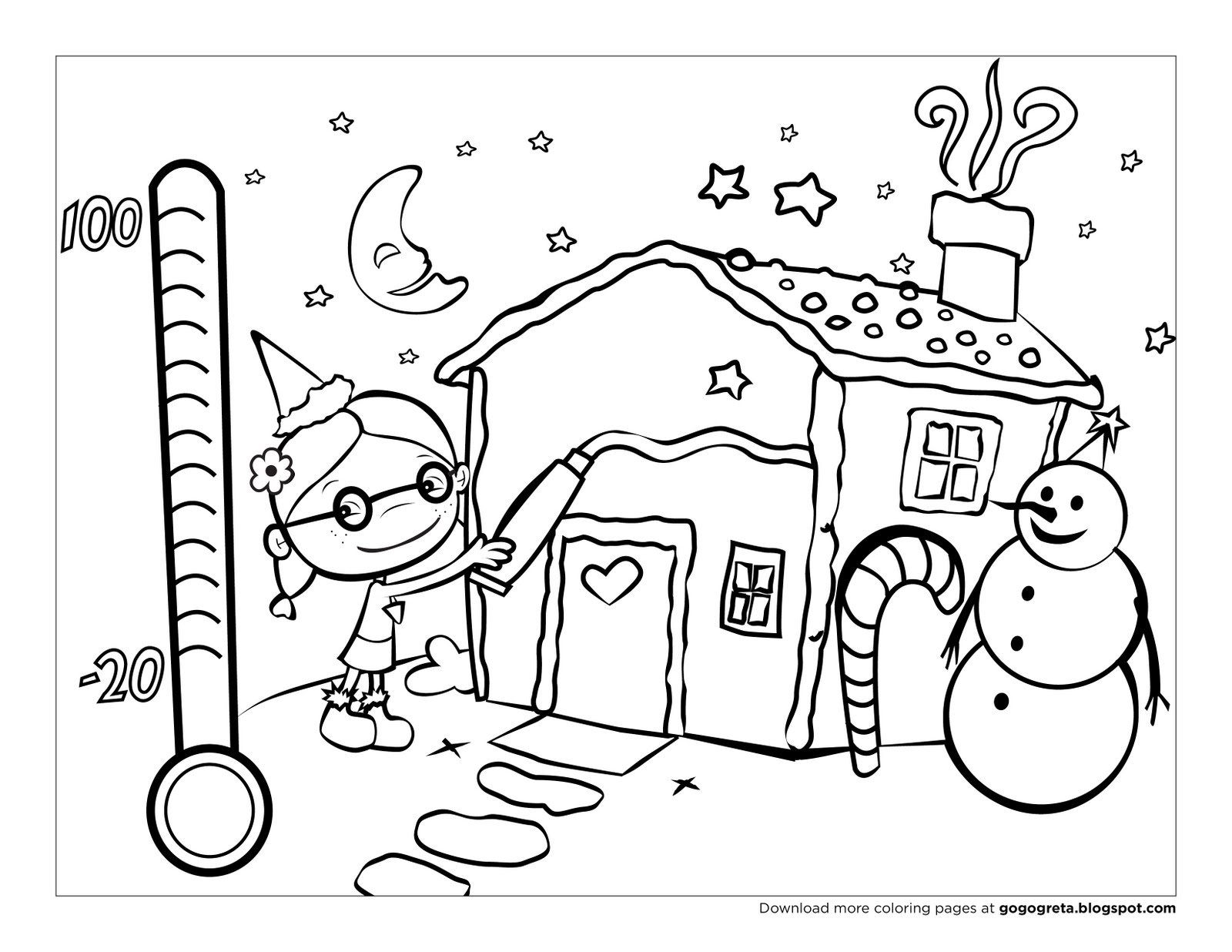 holiday themed coloring pages - photo #6