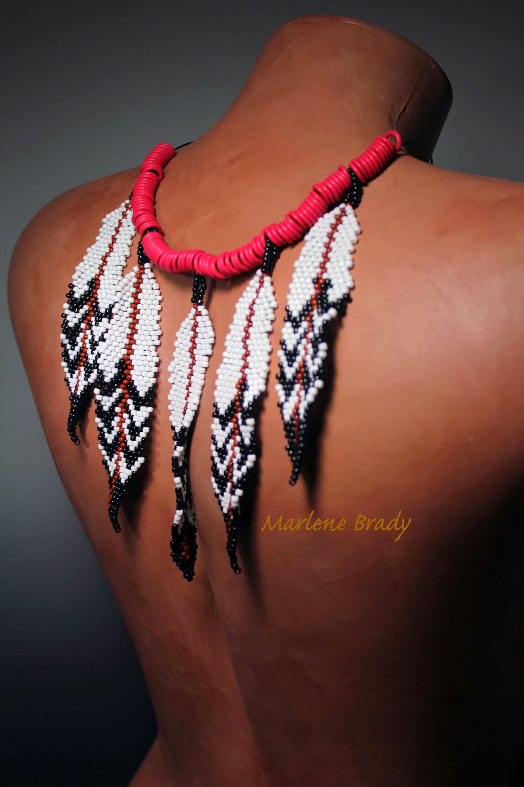 Marlene Brady Beaded Feathers