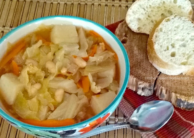 Home Sweet Homestead: Cabbage, Potato and Bean Soup