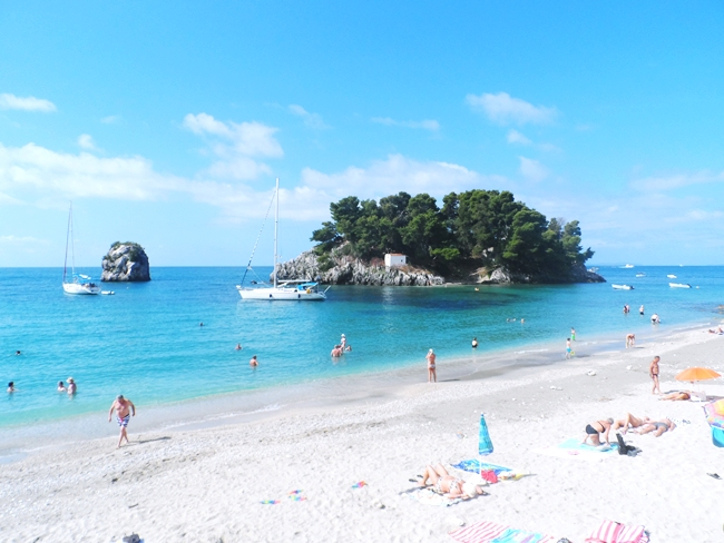 Parga main city beach Krioneri