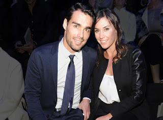 Flavia with her boyfriend Fabio
