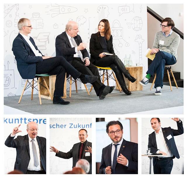 Mehrere Bilder von Menschen auf einem Panel