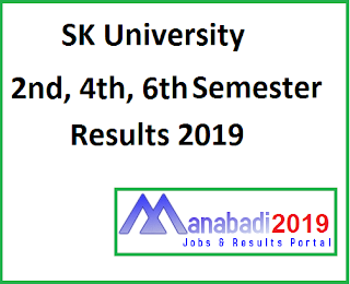 Manabadi SKU Degree 2nd 4th 6th Sem Results 2019
