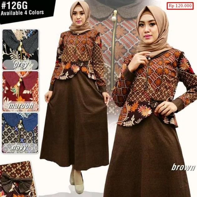 77 Model  Baju  Batik  Muslim 2019  Modern Terbaru Remaja