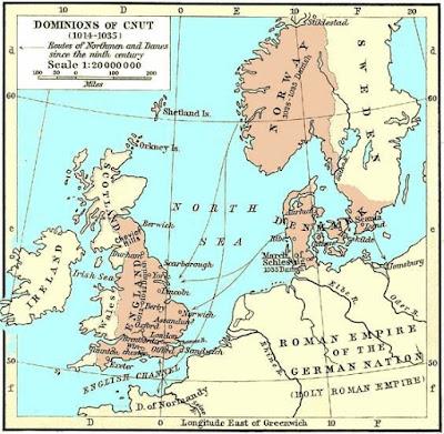 El reino de Cnut el Grande a principios del siglo XI